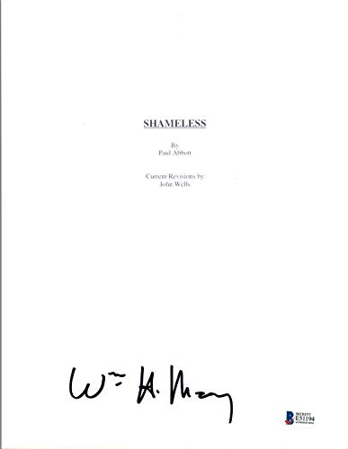 William H Macy Signed Autographed SHAMELESS Pilot Episode Script Beckett BAS COA