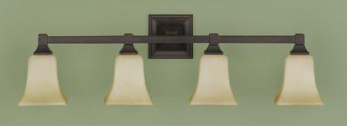 Feiss VS12404-ORB 4-Bulb Vanity Light Fixture, Oil Rubbed Bronze Finish