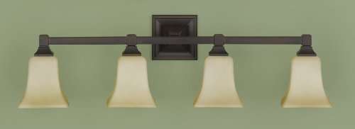 Feiss VS12404-ORB 4-Bulb Vanity Light Fixture, Oil Rubbed Bronze Finish