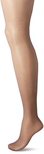 - Hanes Silk Reflections Women's Non-Control Top Sheer Toe Pantyhose 6-Pack, barely black, EF