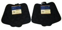 Pack of Four (4) Black Home Store Cotton Pot Holders (2 Sets of 2)