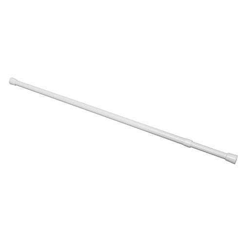 Prime Line MP59620 Shower Curtain Rod, Adjusts 36-60 Inches, Steel & Plastic, White, Cam-Lock Tension, Pack of 1 ()