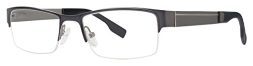Executive Light Pad (Executive GVX542 Men's Glasses - GVX Stainless Steel Collection Frames - Eyewear by Modern Optical - Matte Gunmetal/Light Gunmetal 53-18-135)