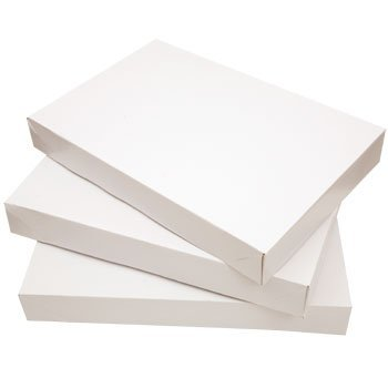 Shirt Boxes - White Gift Boxes for Gift Wrapping for Christmas, Birthdays, or Holidays (Pack of 10)