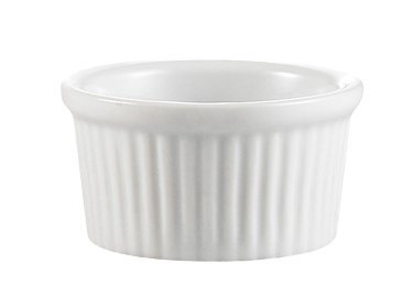 Professional Porcelain Ramekins Bakeware, 4 OZ Souffle Cups Dishes Fine White (Set of 4) Easy to Clean Oven Safe by Culinary Depot (Image #2)