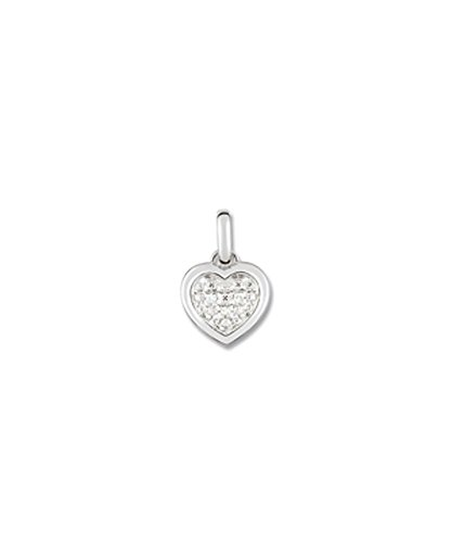 OR by Stauffer - Pendentif or gris 375/1000 coeur et diamants by Stauffer