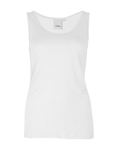 ICHI Essential Sleeveless t-Shirt by White P181blw