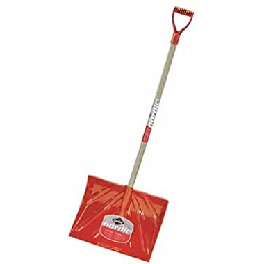 Garant NPM18KDU Nordic 18-Inch Poly Blade Snow Mountain Mover Stained Ash Handle Dark, Red