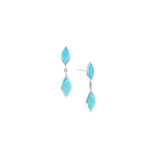 Kabana Sterling Silver Turquoise Drop Style Earrings for sale  Delivered anywhere in USA