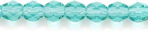 Preciosa Czech 4-mm Fire-Polished Glass Bead, Faceted Round, Transparent Light Medium Emerald, 300/pack