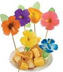 Luau Hibiscus Pool Party Cupcake Cake Toppers Birthday Party Picks Decoration 12 Ct.