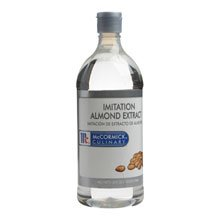 Mccormick Imitation Almond Extract - Plastic, 1 Quart -- 6 per case.