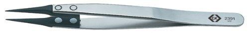 C.K T2391 130mm CarbofibESD Tweezers by C.K