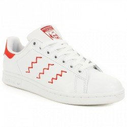 buy online 0a9d8 62740 Chaussures Adidas Stan Smith W Rouge