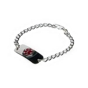 Emerg Alert Medical ID Chrome Adult Bracelet (Diabetic) by Apothecary Products, Inc.