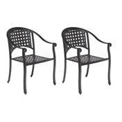 - Alfresco Home Milano 5Piece Cafe Set in London Black with 31.5