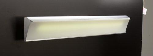 PLC Lighting 3357 AL 1 Light Vanity, Naxos Collection, Aluminum Finish