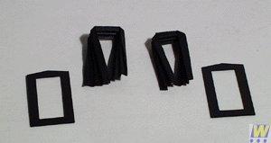 Walthers, Inc. Heavyweight Passenger Car Diaphragms Kit ()