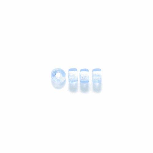 Preciosa Ornela Traditional Czech Glass Crow Roller 200-Piece Beads, 6mm, Light Sapphire (Roller Crow)