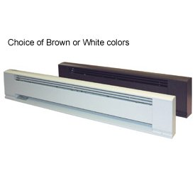TPI G3703024 Series 3700 Aluminum Architectural Style Electric Baseboard Heater, 240/277 Volt, 281/375 W, 24'' L x 8.5'' H x 3'' D, White