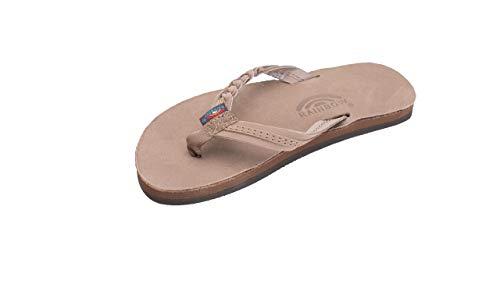 - Rainbow Sandals Kid's Single Layer Premier Leather Flirty Braidy, Dark Brown, Toddler 7-8 B(M) US