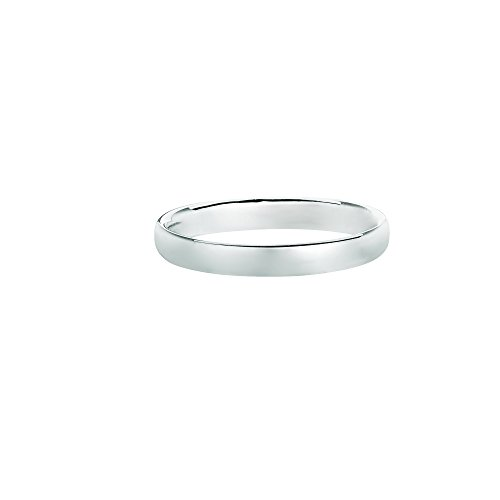 14kt White Gold 2.5mm Shiny Comfort Fit Wedding Band Size 3 ()