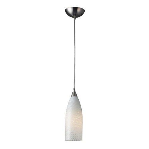 ELK Lighting Cilindro White Swirl 1-Light Pendant