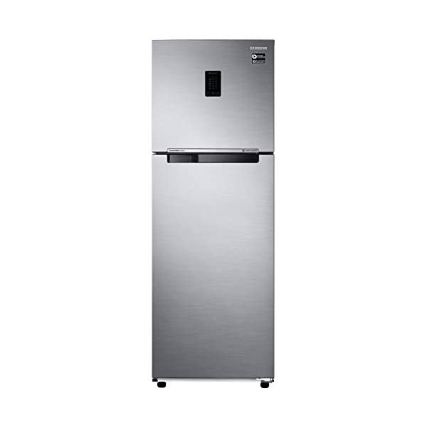 Samsung 345L 3 Star Inverter Frost Free Double Door Refrigerator (RT37T4513S8/HL, Elegant Inox, Convertible) 2021 August Frost Free, Double Door: auto defrost to stop ice-build up Capacity 345 liters: suitable for families with 2 to 3 members and bachelors Energy rating 3 Star : high Energy Efficiency