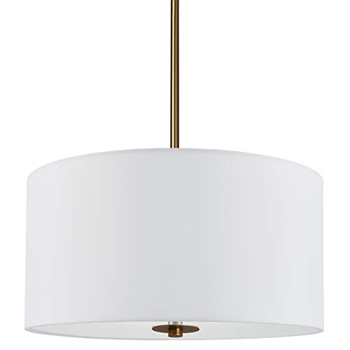 Estaso Drum Pendant Light | Antique Brass Semi Flush Mount Ceiling Light LL-CL452-3SB
