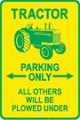 John Deere Parking Sign - Tractor Tin Sign 8 x 12in