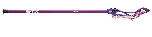 STX Lacrosse Women's Crux 100 Complete Stick with Head, Handle & Strung, Purple/Pink