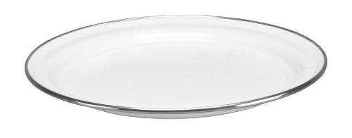 Cinsa 312006 Trend Ware Enamel on Steel Dinner Plate, 10-Inch, White