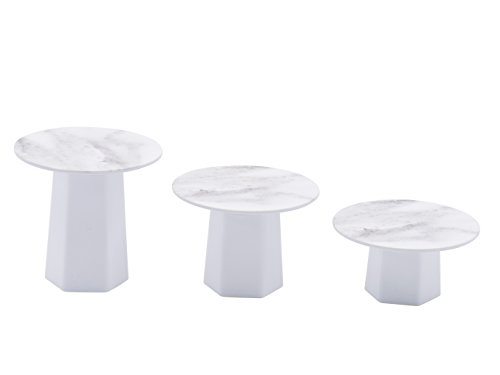 Sugar & Cloth Marble Melamine Mini Cupcake Trio Stand Set