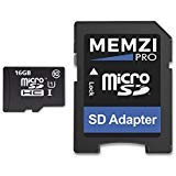 MEMZI PRO 16GB Class 10 90MB/s Micro SDHC Memory Card with SD Adapter for Nokia or Microsoft Lumia Cell - Card Nokia 1320 Sd Lumia