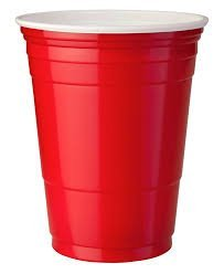 Thali Outlet® – 1000 x Red American vasos 16 oz/455 ml – Red