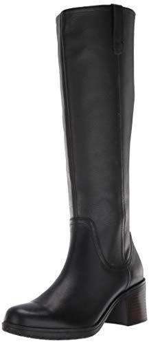 Clarks Women's Hollis Moon Knee High Boot, Black Leather, 95 M US