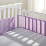 BreathableBaby Mesh Crib Liner, Lavender Image