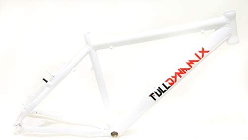 "Full Dynamix 26/"" Aluminum 19/"" Hardtail Mountain Bike Frame Disc White NEW"