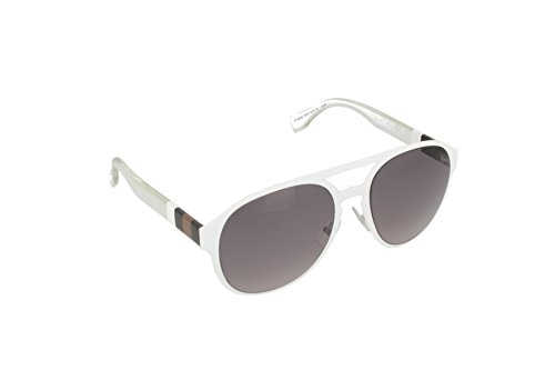 (FENDI FF 0082/S Matte White Frame/Gray Lens 55mm)