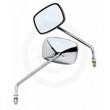 (Emgo Universal Screw-In Mount Mirror - Short Stem - Plain Face - for Harley Both 20-21706)