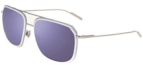 - Dolce & Gabbena Authentic Sunglasses DG2165 White Silver w/Blue Lens 05Y7 DG 2165 (58mm)