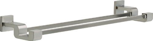 - Delta Faucet 77525-SS Ara 24inch Double Towel Bar Rack, Brilliance Stainless Steel