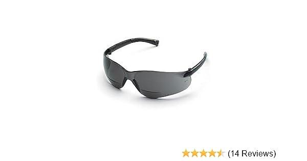 Crews BearKat Bifocal Safety Glasses Gray Lens 2.0 Diopter