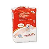 Tranquility Topliner Booster Contour Pads - 1/Case of 120 (Booster Pad Liner Top)