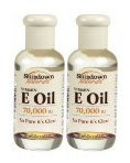 Sundown Pure Vitamin E Oil 70,000 IU, 2 pk