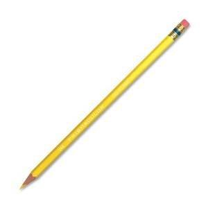 Prismacolor® Col-Erase Pencil with Eraser, Yellow Lead, Yellow Barrel, Dozen - Yellow Colored Pencil