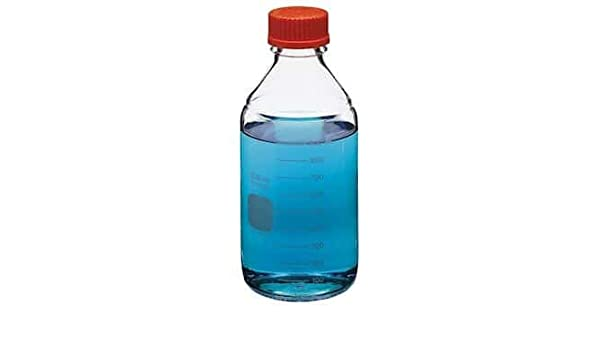 2000ml Round Media Storage Bottle with GL45 Screw Cap Pack of 2 Corning PYREX #1395-2L