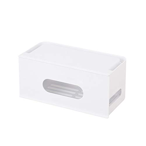 Ktyssp Desktop Cable Box Drawer Plastic Cooling Power Cord Patch Panel Finishing Box Storage Boxes - So White Cord