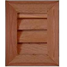 "GC812 Cedar Wood Gable Vent ~ Louver box 7.5 x 11.5 ~ Overall 11.5"" x 15.5"" ~ Kimball Designs Sanded Smooth Functional Ventilation"