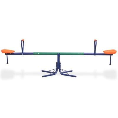 Kids Seesaw Swivel Teeter-Totter Home Playground Equipment 71.7 x 23.6 inches Children Boys 360 Degrees Rotating Safe 2 Seats Toddlers Outdoor Fun for Kids